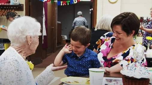 Дружба поколінь: хлопчик допоміг відсвяткувати 100-річний ювілей своїй подрузі